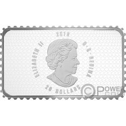 PARLIAMENT BUILDING Historical Stamps 1 Oz Серебро Монета 20$ Канада 2018