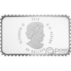 PARLIAMENT BUILDING Parlamento Historical Stamps 1 Oz Moneda Plata 20$ Canada 2018