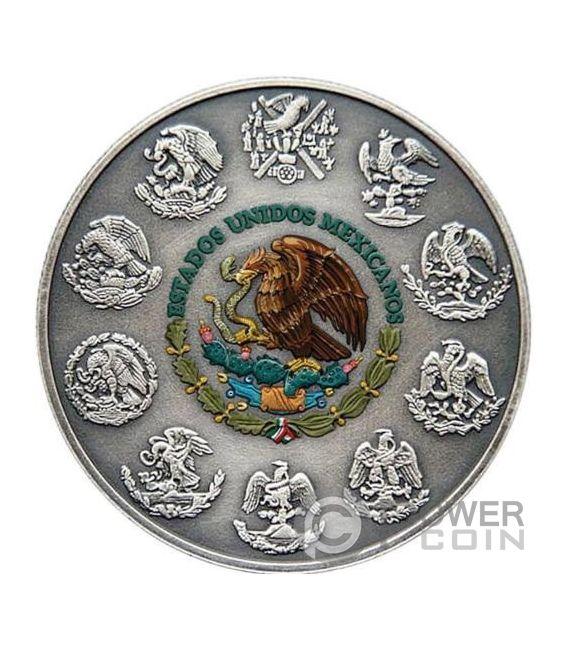 CRYSTAL SKULL Tag der Toten Freiheit Libertad 1 Oz Silber Münze Mexico 2018