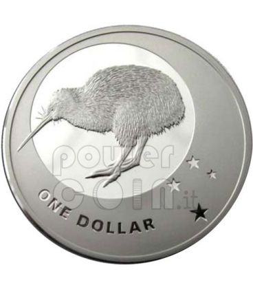 ICONS KIWI SOUTHERN CROSS Silver Proof Coin 1$ New Zealand 2010
