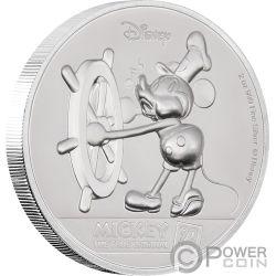 MICKEY MOUSE Topolino 90 Anniversario Disney 2 Oz Moneta Argento 5$ Niue 2018