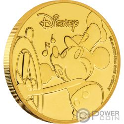 MICKEY MOUSE 90 Jahrestag Disney Gold Münze 25$ Niue 2018