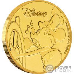 MICKEY MOUSE Topolino 90 Anniversario Disney Moneta Oro 25$ Niue 2018
