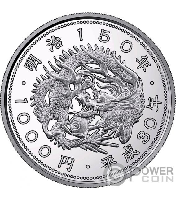 MEIJI 150th Anniversary 1 Oz Silver Coin 1000 Yen Japan Mint 2018