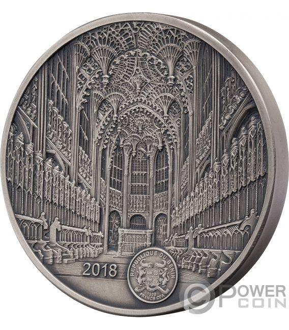 WESTMINSTER ABBEY Abadia Mauquoy Infinity Minting Moneda Plata 1500 Francos Benin 2018