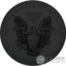 AMERICAN SKULL Calavera Walking Liberty 1 Oz Moneda Plata 1$ USA 2018