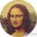 MONA LISA Monna Gioconda Leonardo Da Vinci Great Micromosaic Passion 3 Oz Moneta Argento 20$ Palau 2018