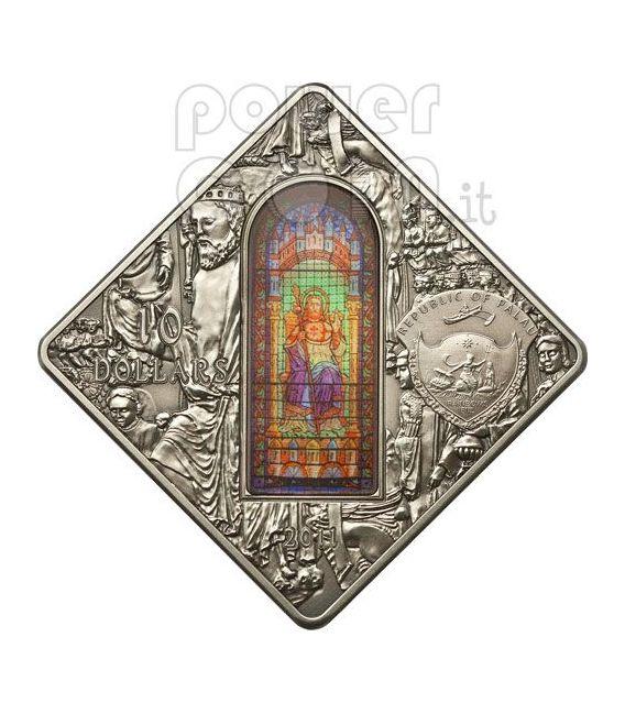 SANTIAGO DE COMPOSTELA Holy Windows Silver Coin 10$ Palau 2011