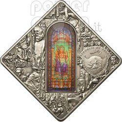 SANTIAGO DE COMPOSTELA Holy Windows Серебро Монета 10$ Палау 2011