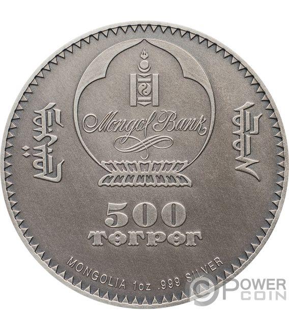 PTEROSAUR Evolution of Life 1 Oz Silver Coin 500 Togrog Mongolia 2018