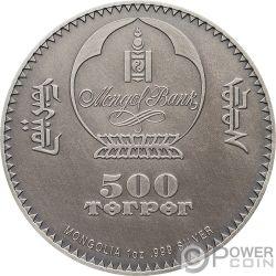 PTEROSAUR Evolution of Life 1 Oz Серебро Монета 500 Тугриков Монголия 2018