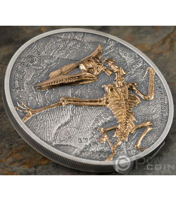 500 Oz Silvers: PTEROSAUR Evolution Of Life 1 Oz Silver Coin 500 Togrog