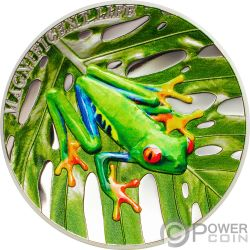 TREE FROG Magnificent Life 1 Oz Silver Coin 5$ Cook Islands 2018