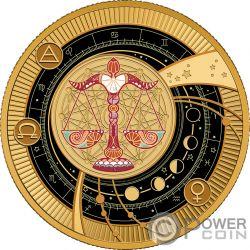 LIBRA Waage Zodiac Signs Silber Münze 500 Franken Cameroon 2018