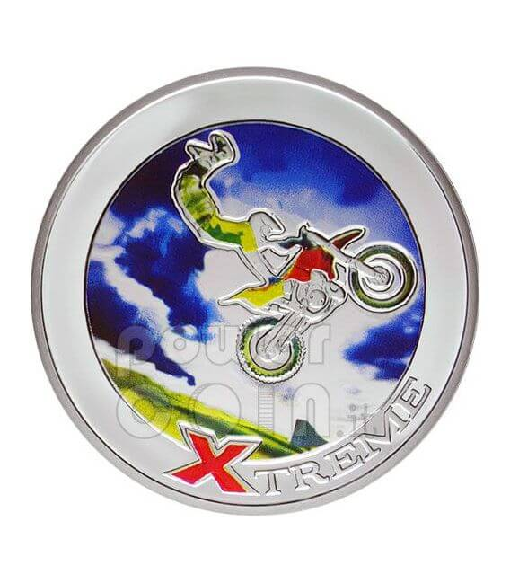 FREESTYLE MOTOCROSS FMX Sport Estremi Moneta Argento 10D Andorra 2008