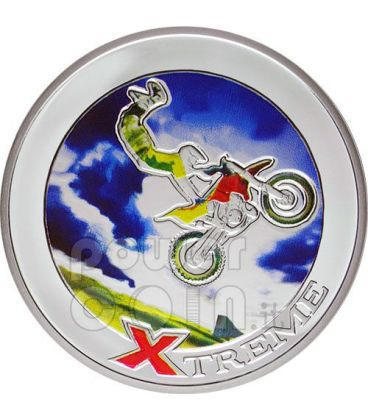 FREESTYLE MOTOCROSS FMX Extreme Sports Silver Coin 10D Andorra 2008