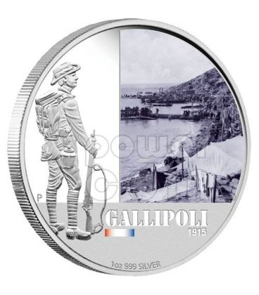 GALLIPOLI BATTAGLIE FAMOSE 1915 Moneta Argento 1$ Australia 2011