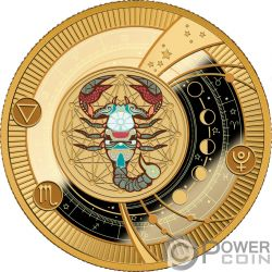 SCORPIO Zodiac Signs Silver Coin 500 Francs Cameroon 2018