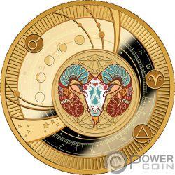 ARIES Widder Zodiac Signs Silber Münze 500 Franken Cameroon 2018