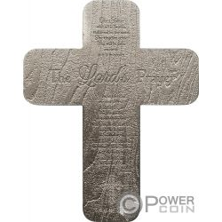 CRUCIFIX INRI Lords Prayer 2 Oz Серебро Coin