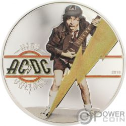 HIGH VOLTAGE ACDC 1/2 Oz Silver Coin 2$ Cook Islands 2018
