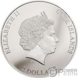 HIGH VOLTAGE ACDC 1/2 Oz Серебро Монета 2$ Острова Кука 2018