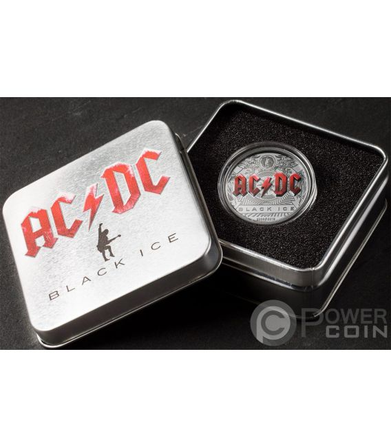 BLACK ICE 10 Anniversario ACDC 2 Oz Moneta Argento 10$ Cook Islands 2018