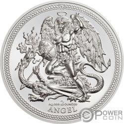 ANGEL Archangel Michael 2 Oz Серебро Монета Остров Мэн 2018