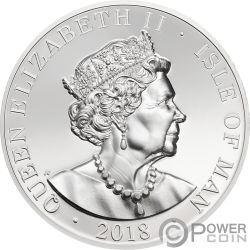 ANGEL Erzengel Michael 2 Oz Silber Munze Isle of Man 2018