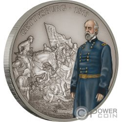 BATTLE OF GETTYSBURG Battaglia Battles That Changed History 1 Oz Moneta Argento 2$ Niue 2018