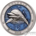 DOLPHIN Delfino Underwater World 3 Oz Moneta Argento 5$ Barbados 2019