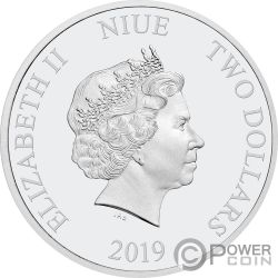 YEAR OF THE PIG Lunar Coin Collection 1 Oz Silver Coin 2$ Niue 2019