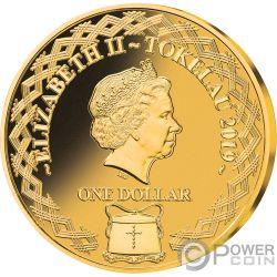 FRANKENSTEIN 200th Anniversary Set 3 Золото Plated Монеты 1$ Токелау 2019
