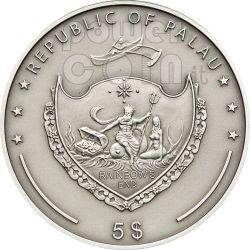 SAPPHIRE Treasures Of The World Silber Münze 5$ Palau 2010