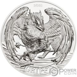 GRIFFIN Greif Mythological Animals 2 Oz Silber Münze 1500 Shillings Tanzania 2018