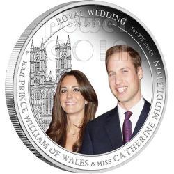 ROYAL WEDDING William Kate Silver Coin Proof 1$ Australia 2011