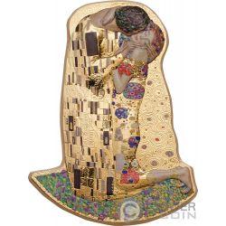 KISS 3D Bacio Gustav Klimt 2 Oz Moneta Argento 10$ Cook Islands 2019