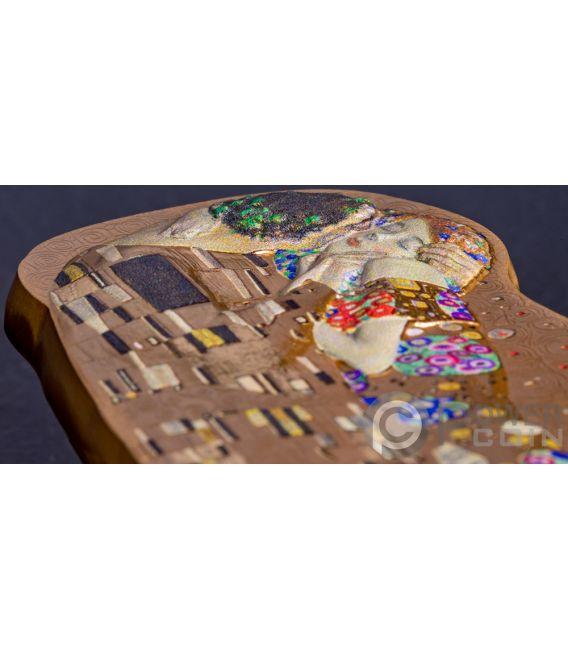 Kiss 3d Gustav Klimt 2 Oz Silver Coin 10 Cook Islands