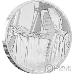 EMPEROR PALPATINE Star Wars Classic 1 Oz Silver Coin 2$ Niue 2018