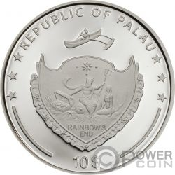POPPY High Relief Flowers Leaves 2 Oz Silver Coin 10$ Palau 2019