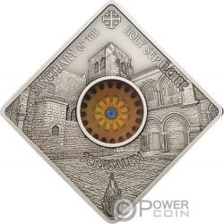 SEPULCHRE JERUSALEM Sacred Art Holy Windows Серебро Монета 10$ Палау 2018