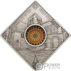 SEPULCHRE JERUSALEM Santo Sepolcro Sacred Art Holy Windows Moneta Argento 10$ Palau 2018