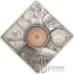 SEPULCHRE JERUSALEM Grabeskirche Sacred Art Holy Windows Silber Münze 10$ Palau 2018