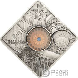 SEPULCHRE JERUSALEM Santo Sepulcro Sacred Art Holy Windows Moneda Plata 10$ Palau 2018
