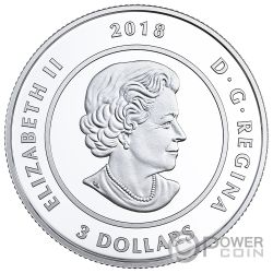 OCTOBER Birthstone Swarovski Crystal Silver Coin 5$ Canada 2018