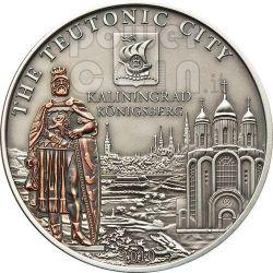 KALININGRAD Hanseatic League Hansa Silver Coin 5$ Cook Islands 2010