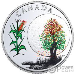 CORN MOON Mond Mais Teachings From Grandmother Silber Münze 3$ Canada 2018