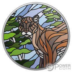 COUGAR Puma Canadian Mosaics 1 Oz Moneda Plata 20$ Canada 2018