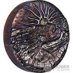 RARE EARTH Supernova Diamant 5 Oz Silber Münze 8$ Australia 2018