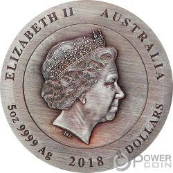 RARE EARTH Supernova Diamante 5 Oz Moneda Plata 8$ Australia 2018